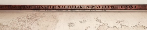 Canvas world map - TRAVEL AND CHANGE OF PLACE IMPART NEW VIGOR TO THE MIND