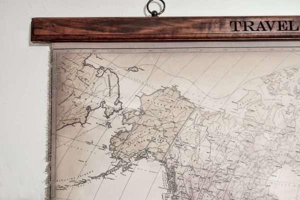 Canvas world map Alaska