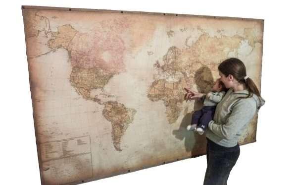 Push Pin Map - Super Large Size Modern World Map Main image