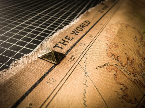 Push Pin Map - Super Large Size Modern World Map - square copper studs on top