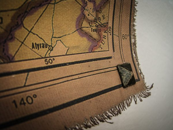 Push Pin Map - Super Large Size Modern World Map - square copper studs on bottom