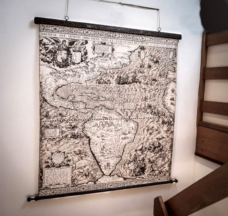 American history map on the wall