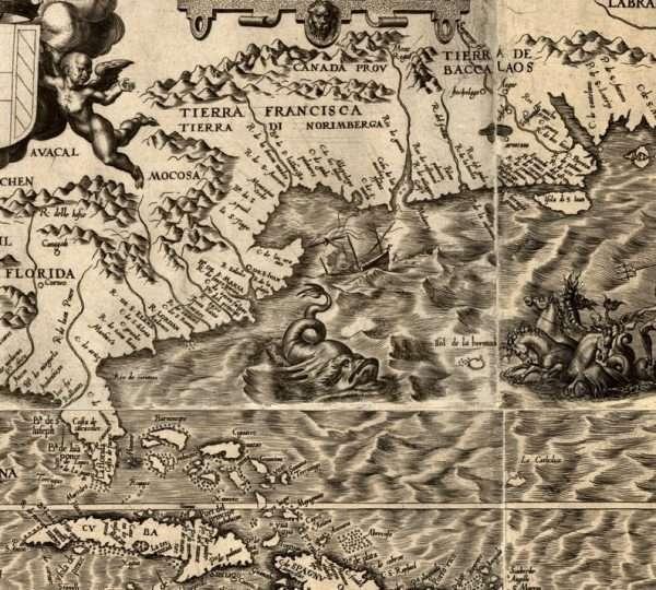 American history map - Bermuda area