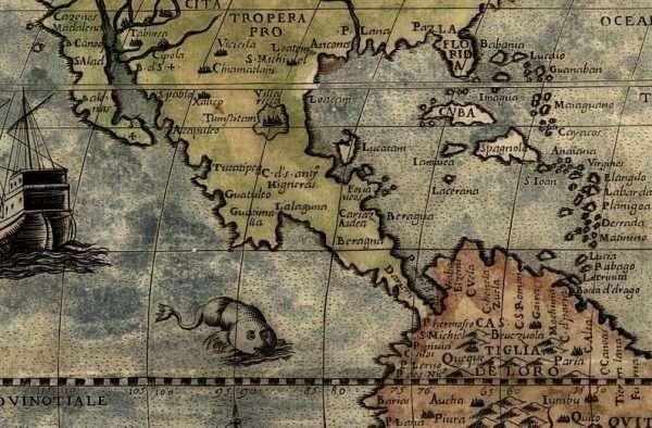 Monster map - detail central America