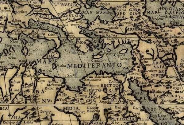 Monster map - detail Mediterranean