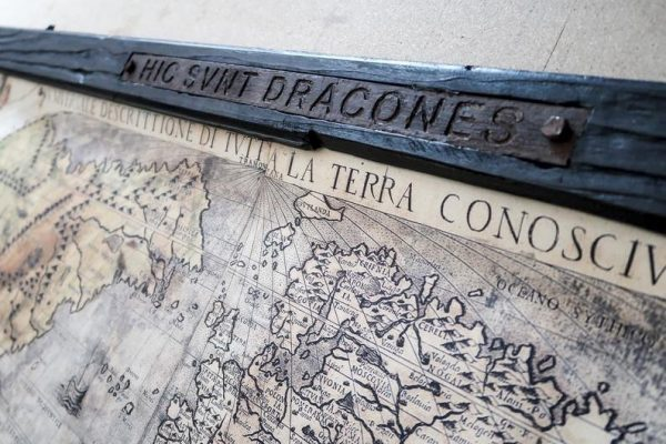 Monster map - Hic Svnt Dracones - Here be dragons