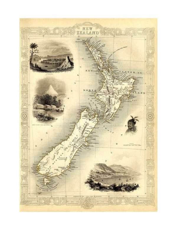 Large map of New Zealand